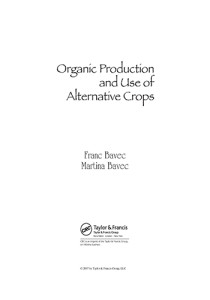 Book Cover: Organic production and use of alternative crops