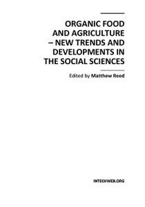 Book Cover: Organic food and agriculture – New trends and developments in the social sciences