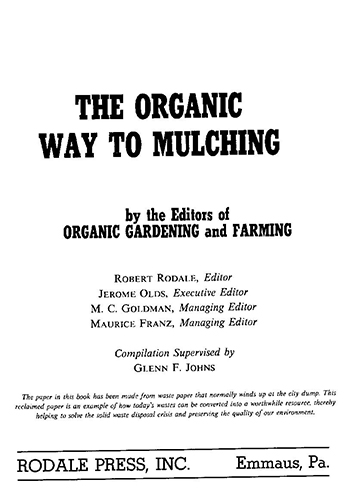 Book Cover: The organic way to mulching