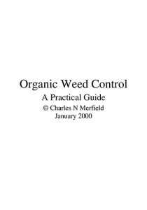 Book Cover: Organic weed controla practical guide