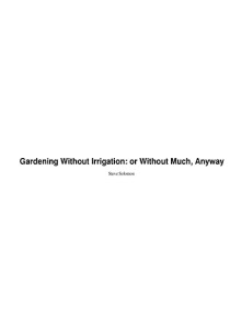 Book Cover: Gardening without irrigation: or without much, anyway