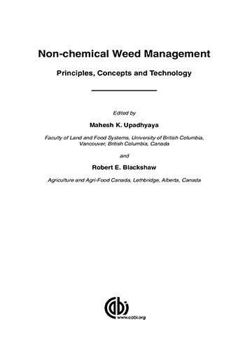 Book Cover: Non-chemical weed management