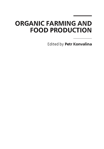Book Cover: Organic farming and food production